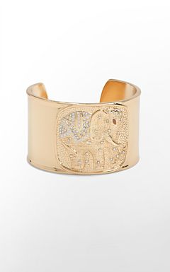 19022_goldmetallicelephantcuff